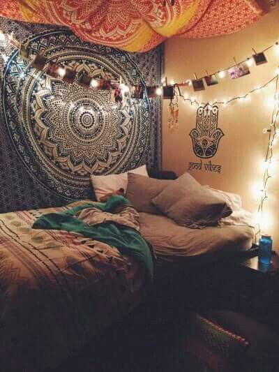 American hippie boh me boho lifestyle bedroom my for Space themed tapestry