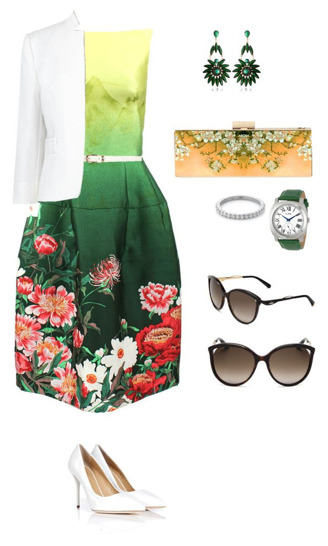 garden girl by wezzie on Polyvore featuring polyvore, fashion, style, Oscar de la Renta, L.K.Bennett, Giuseppe Zanotti, Armenta, Christian Dior and Dorothy Perkins