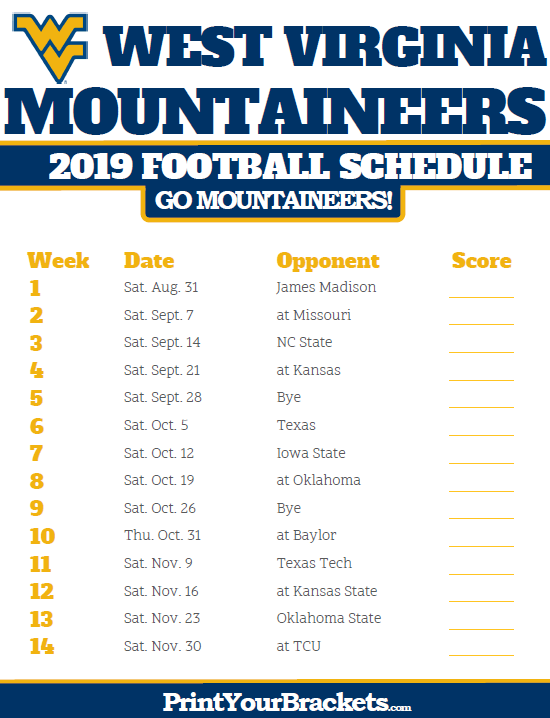Pin By Lauryn Klorres On Schedule West Virginia Mountaineer West Virginia Mountaineers Football College Football Season