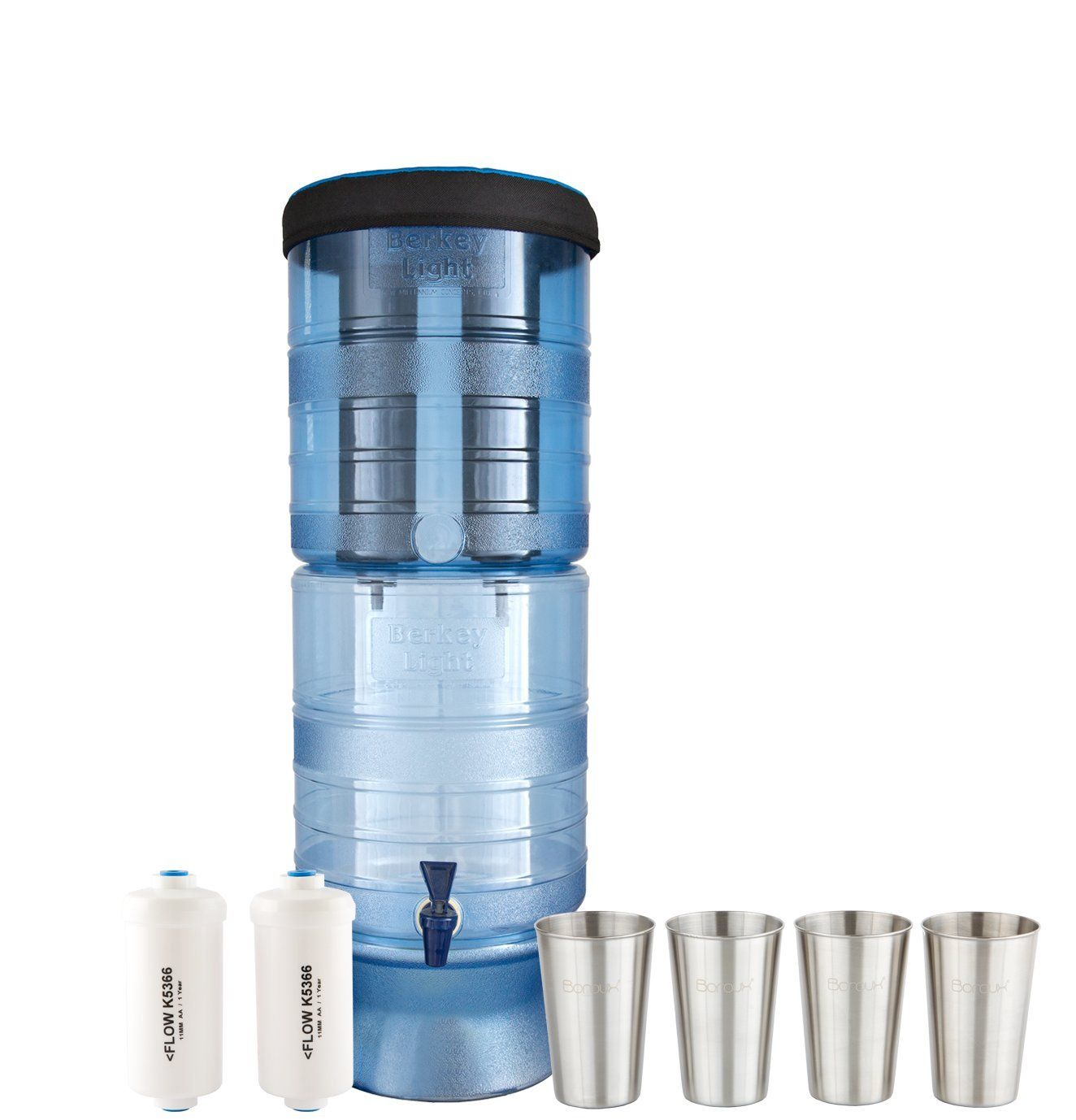 Berkey Light Water Filter System w2 Black Purifier Filters 25