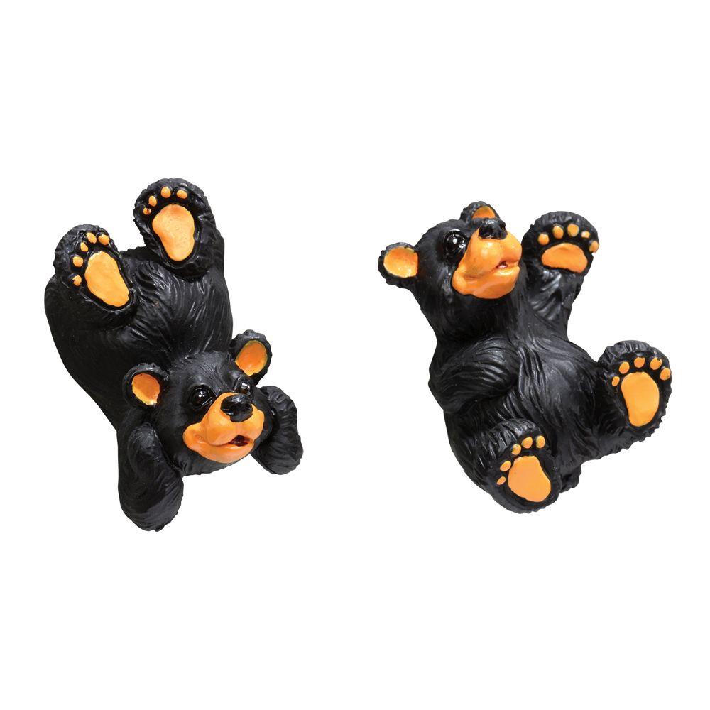 Black Bear Cabin Cabinet Knobs (Set Of 2)