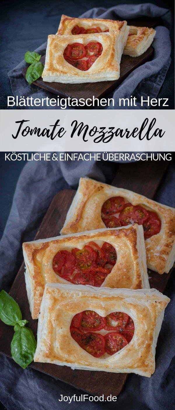 Photo of Tomate Mozzarella Blätterteigtaschen mit Herz | Joyful Food