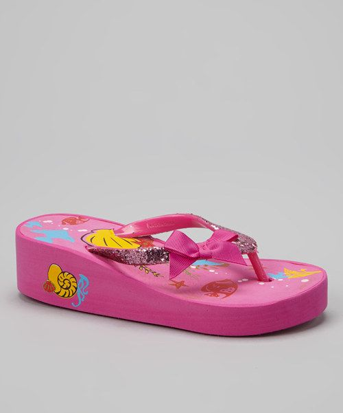 f4b849691 Love this Pink   Yellow Seascape Bow Wedge Flip-Flop by Raya Sun on