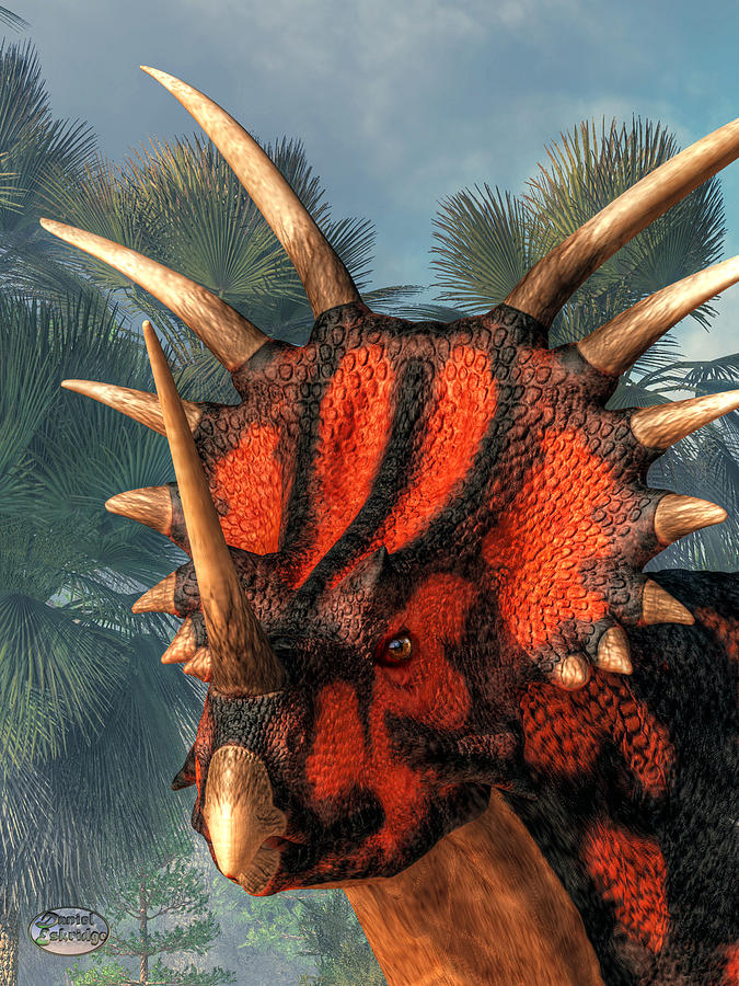 Styracosaurus Head by Daniel Eskridge