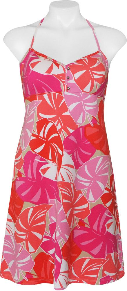 Tommy Bahama Women's Sunset Leaves Dress Red Tulip - Island Trends