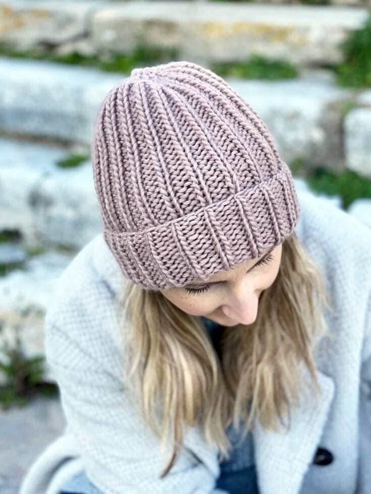 How To Knit A Hat With Straight Needles in 2020 | Knitted ...