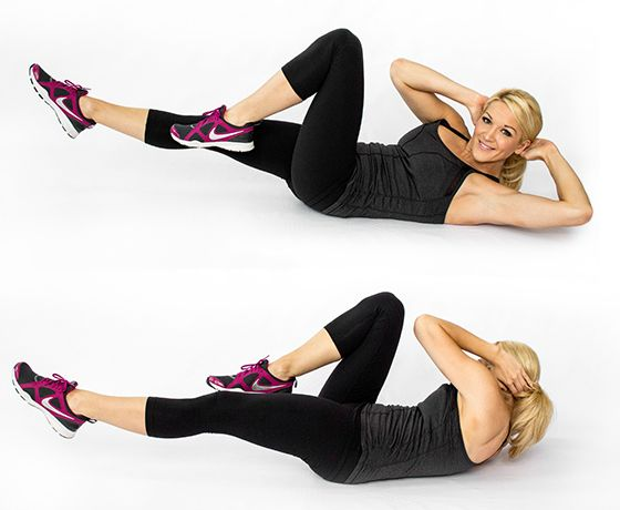 Image result for Knee to elbow Crunch""