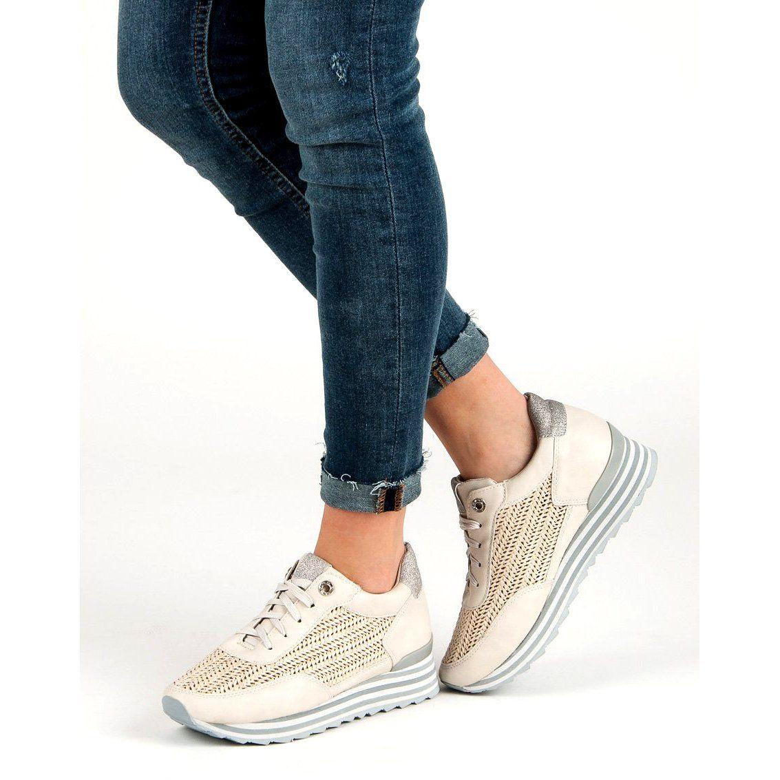 Aclys Sneakersy Ze Wzorem Bezowy Vans Old Skool Sneaker Shoes Wedge Sneaker