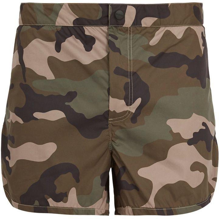 516eea9990 Valentino Camouflage-print swim shorts | Products | Menswear ...