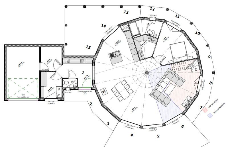Plan maison ronde Dessin du0027architectures Pinterest Conception - dessiner plan de maison
