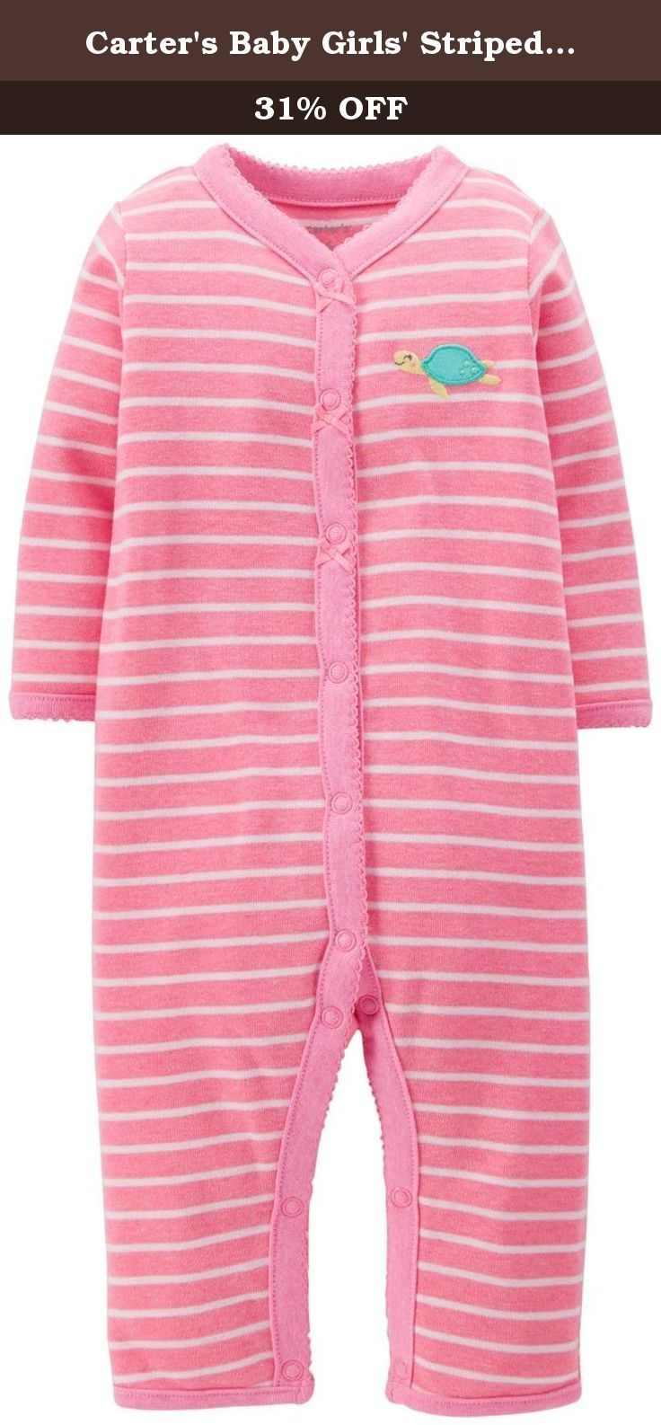 Carter S Baby Girls Striped Romper Baby Seaturtle 3 Months