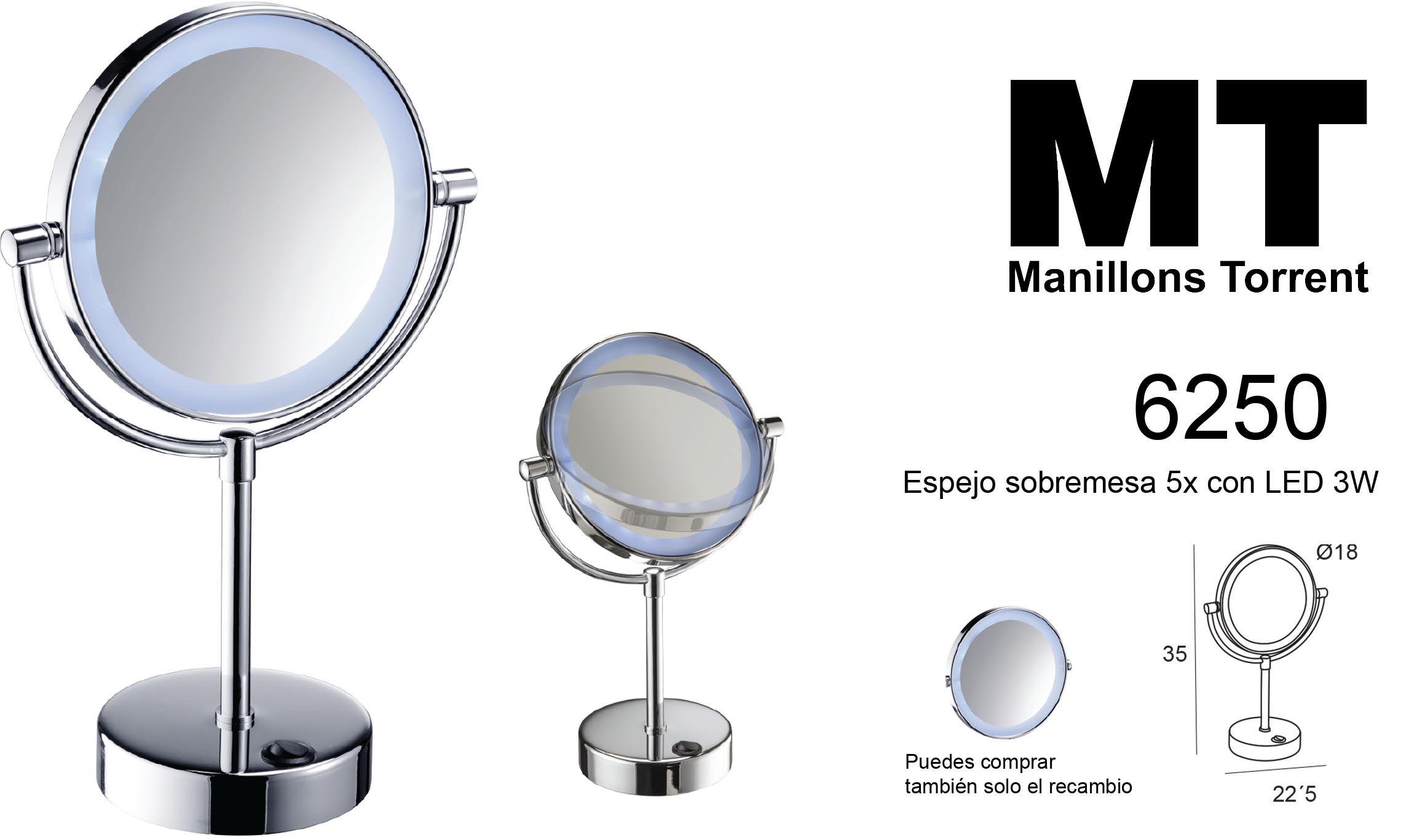 6250, espejo de aumento con luces LED.   Espejos, Espejos ...