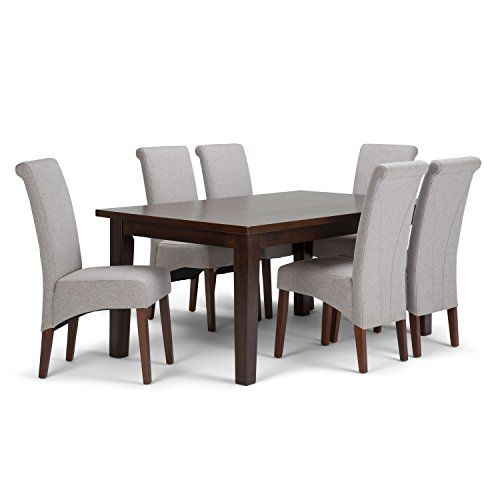 Simpli Home Avalon 7 Piece Dining Set Cloud Grey    Check Out This Great  Product