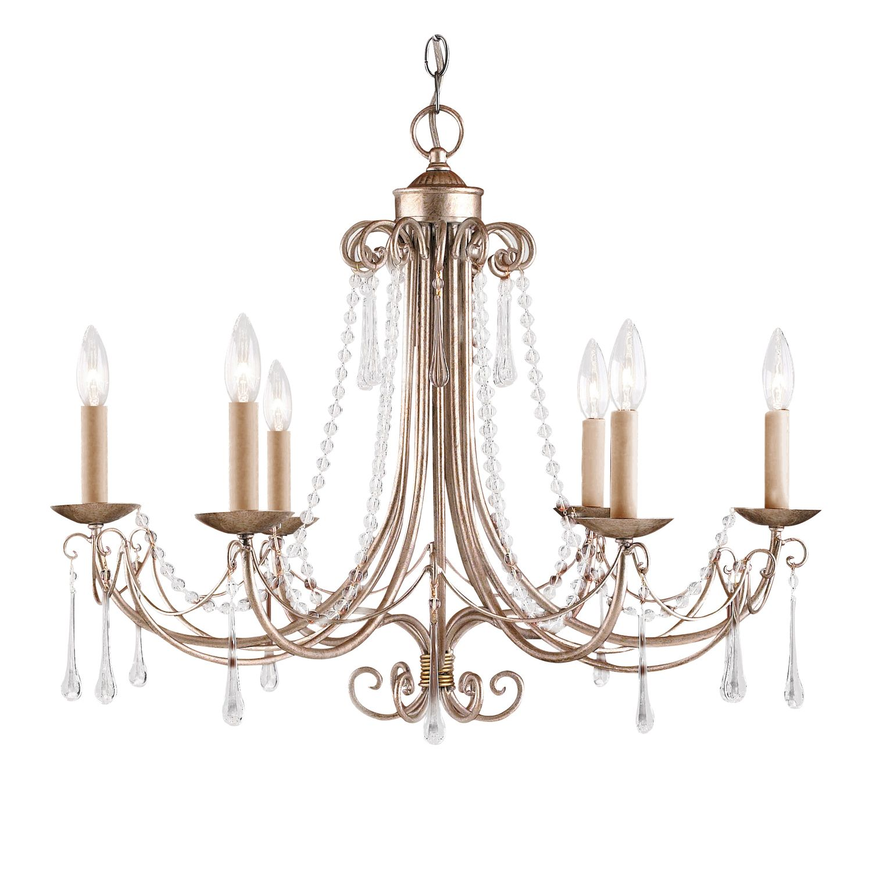 Landmark Lighting Cambridge 6-Light Chandelier In Antique Silver 416-AS