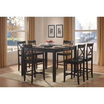 Melvin 7 Piece Counter Height Dining Set