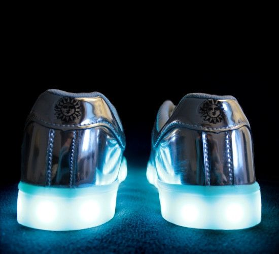 Women's Silver Edition LED Shoe BEAM Light up Shoes for