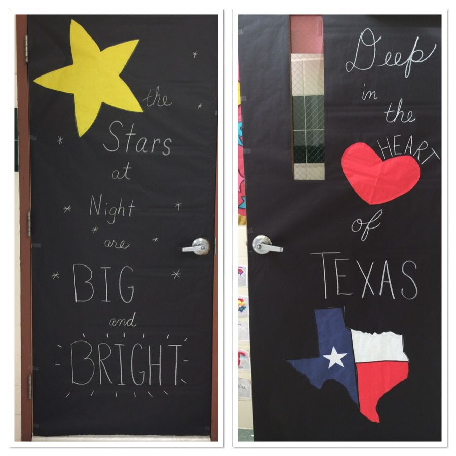 Texas Public School Week. My classroom has two doors. Love the way this turned out!!
