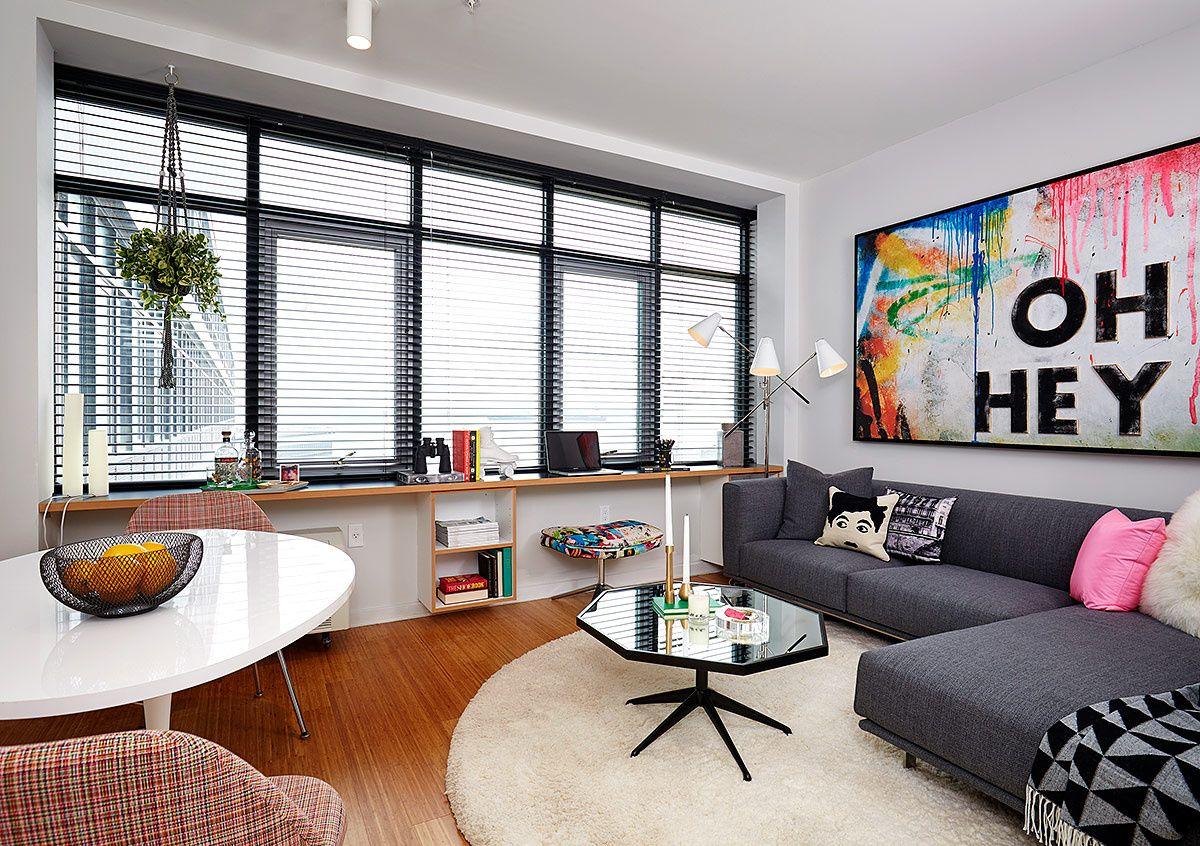 Departamentos urby en nueva york salas chic decoracion for Departamentos pequenos interiores
