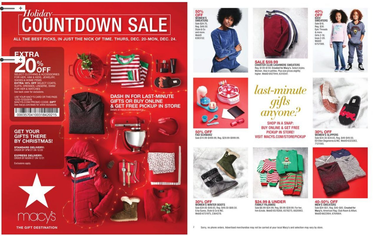 Macy S One Day Sale Catalog January 18 19 2019 Weeklyad123 Com Weekly Ad Circular Grocery Stores One Day Sale Macys Macys Coupons