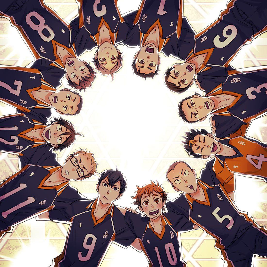 The Team Haikyuu Karasuno Haikyuu Anime Haikyuu