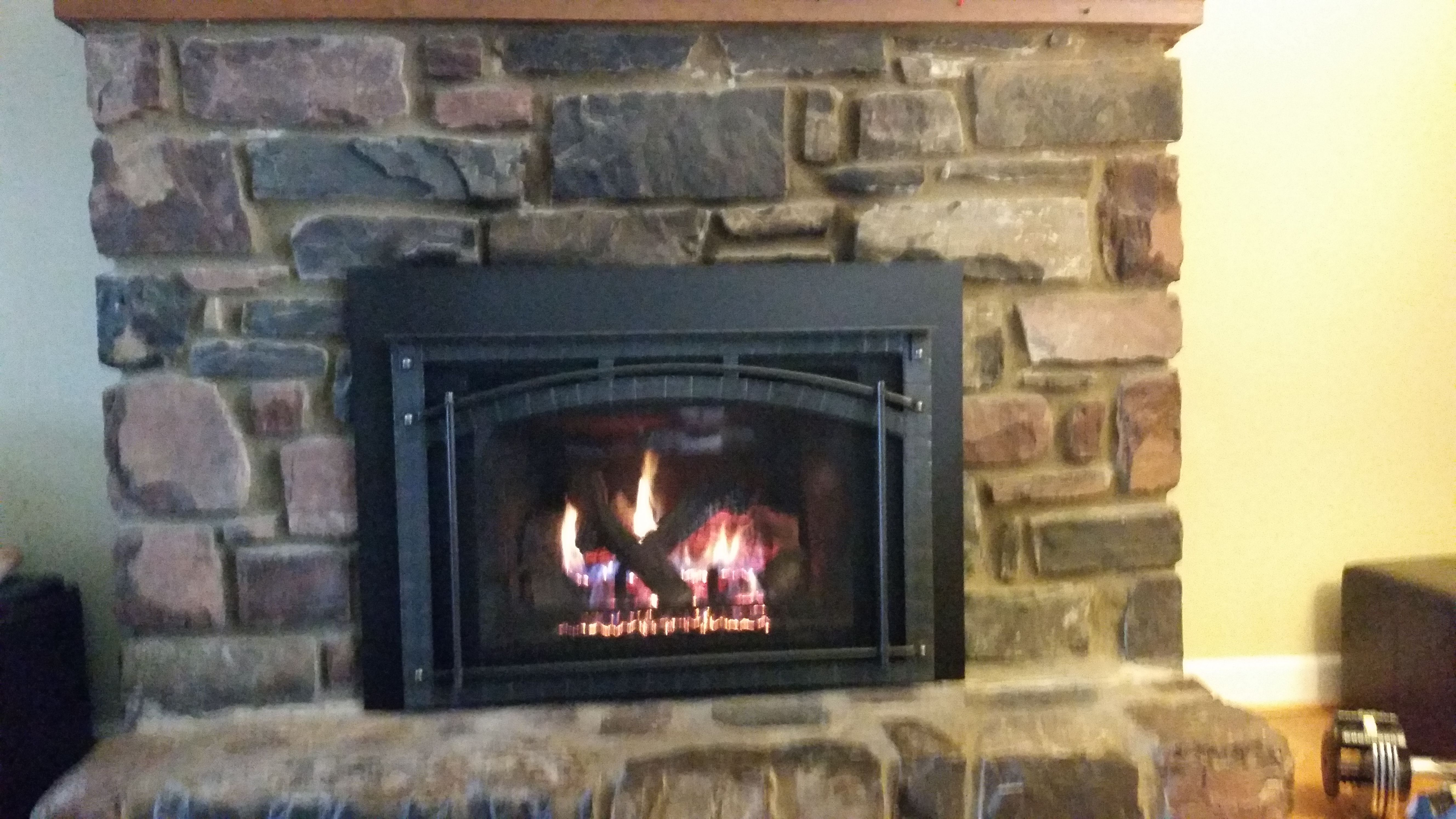 newly installed heat n glo escape gas fireplace insert heat n glo