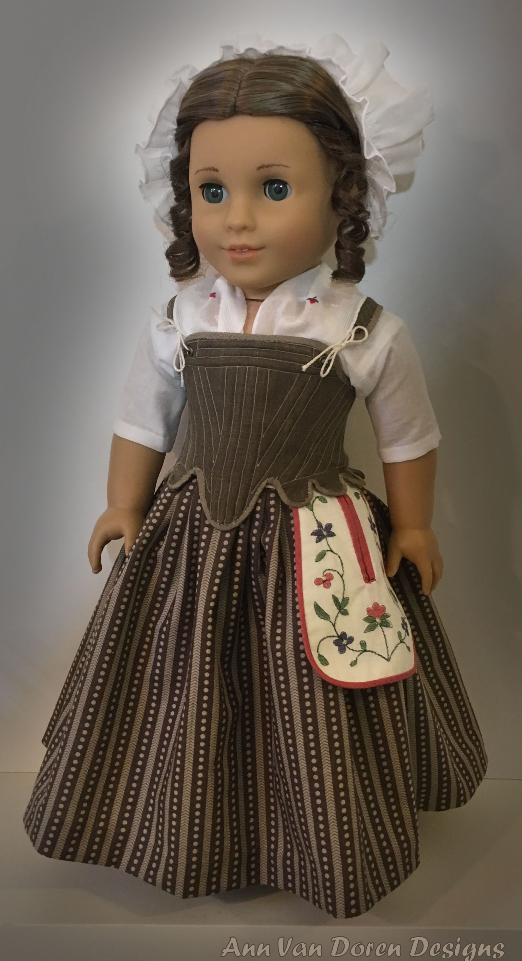18th Century Underpinnings - Patterns by Pemberley Threads and Swish & Swirl #historicaldollclothes