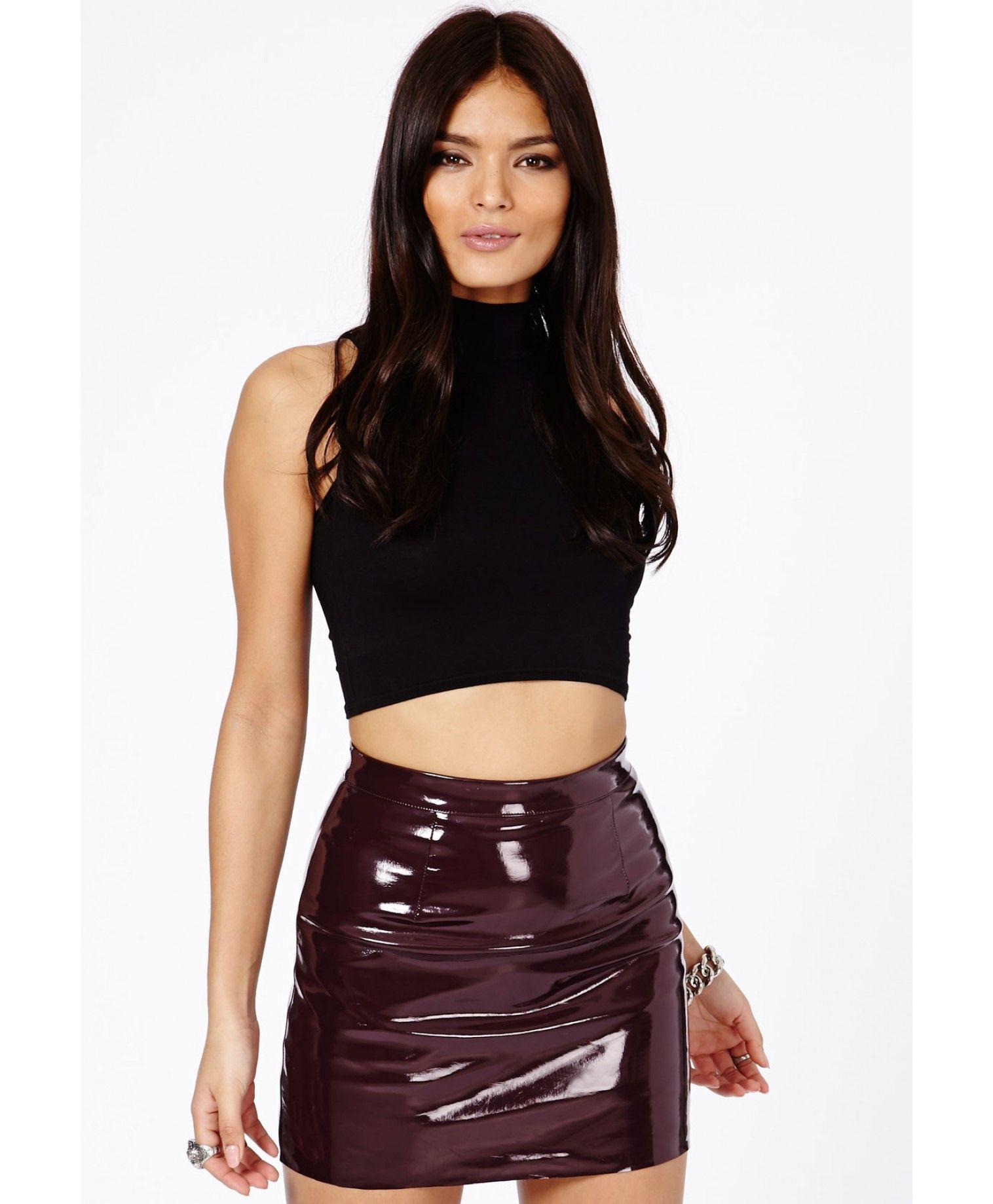 Nagsia Pvc Mini Skirt Skirts Mini Skirts Missguided