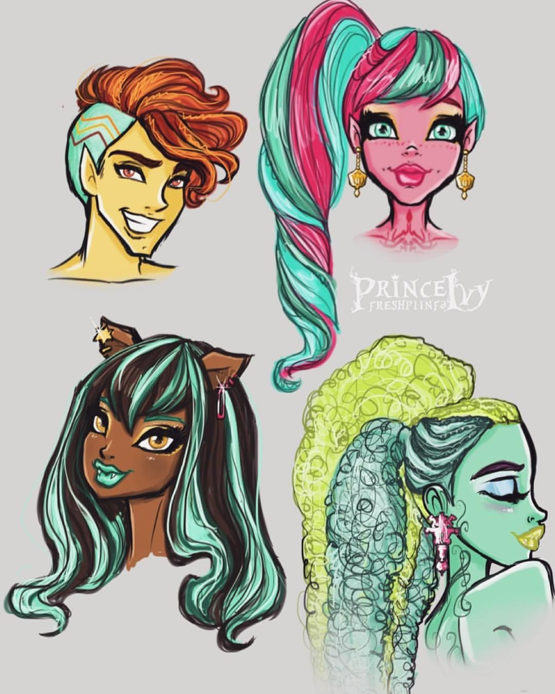 prince ivy — more #monsterhigh hairstyle designs! :) honey