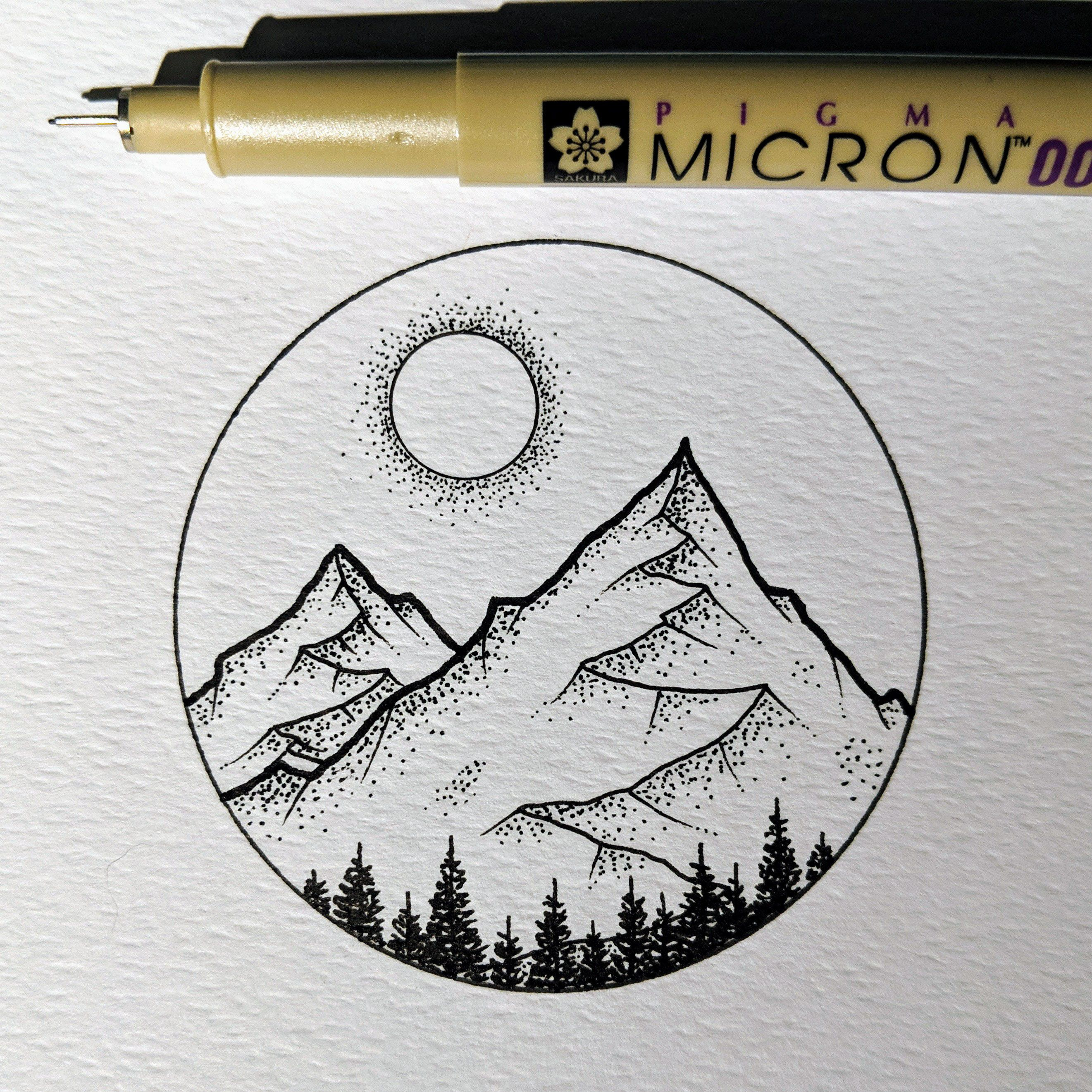 The Great Outdoors - micron pen drawing #thegreatoutdoors