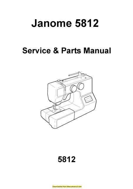 Janome 5812 Sewing Machine Service-Parts Manual in 2020