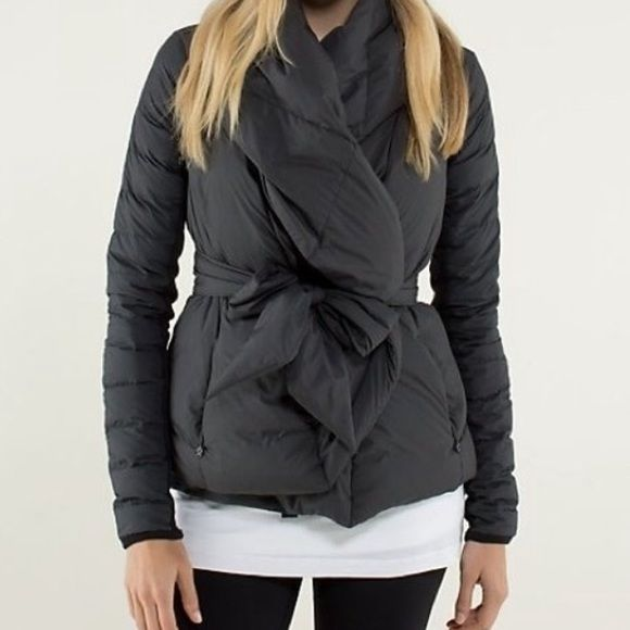 a88af2de5f7 LULULEMON Black Down To The Studio Wrap Jacket Item Description Perfect  wrap jacket to wear to