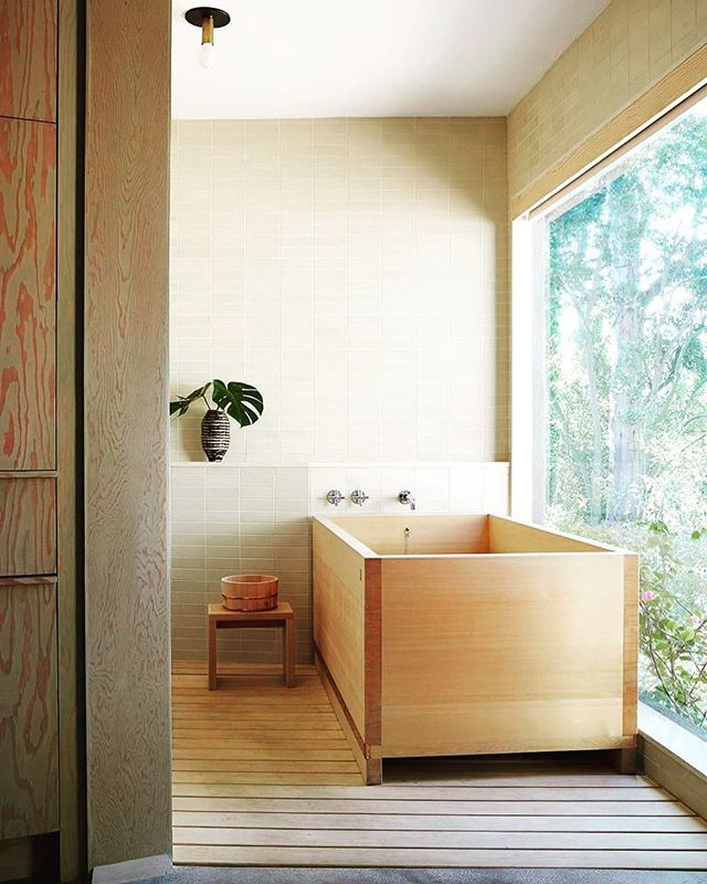 Pin By Annemarie Ryffel On Architektur Wooden Bathtub Japanese Bathroom Bathroom Design