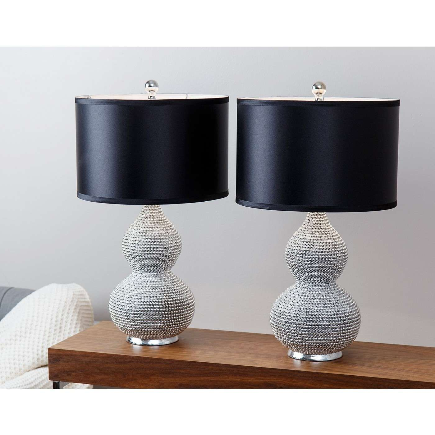 Sayer Silver Plated Sea Urchin Table Lamp Set Of 2