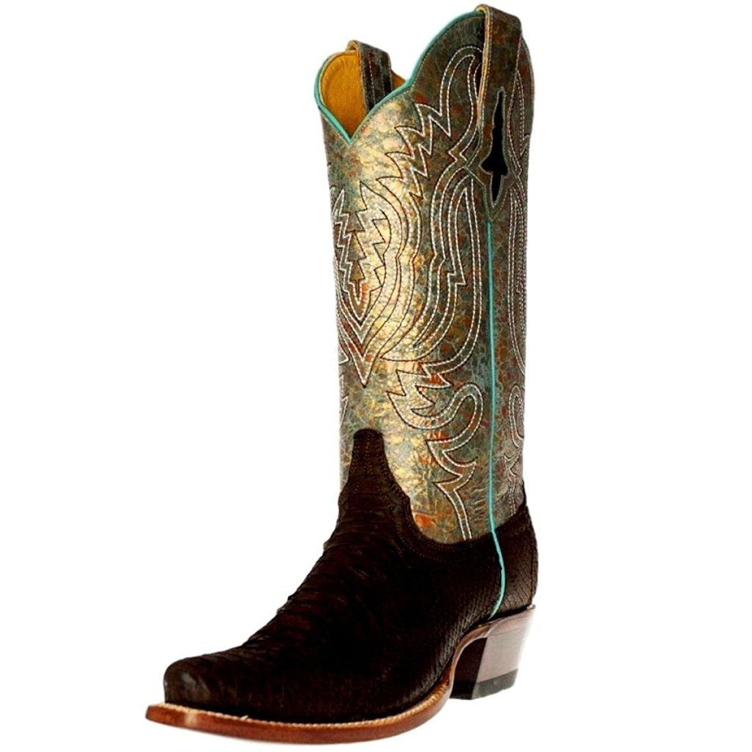 2ee98a53d47 Cinch Western Boots Womens Snakeskin Python Square Chocolate CFW578 ...