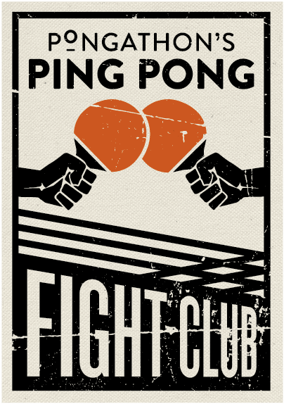 Table Tennis Room Design: Pongathon's Ping Pong Fight Club, 2016