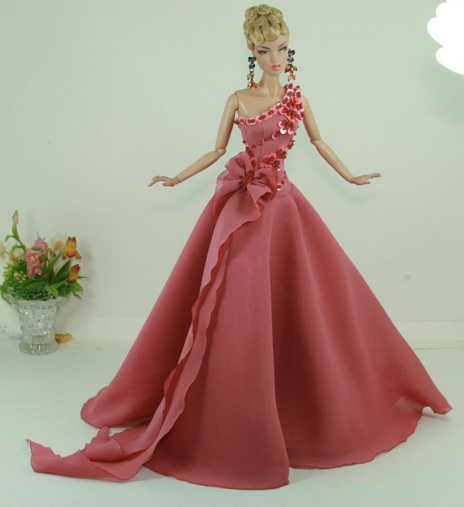APHRODAI Fashion Silkstone Barbie Model Gown Outfit Dress for Dolls and Toys N2 #Aphrodai