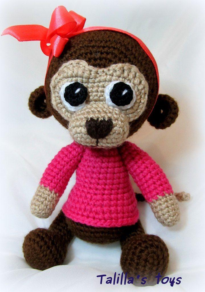 Amigurumi: mono. Esquemas gratuitos para tejer juguetes. Patrón de ...