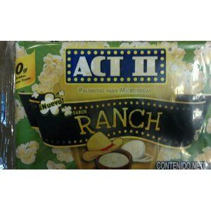 Act II Microwave Popcorn Ranch 95g (Pack of 6)