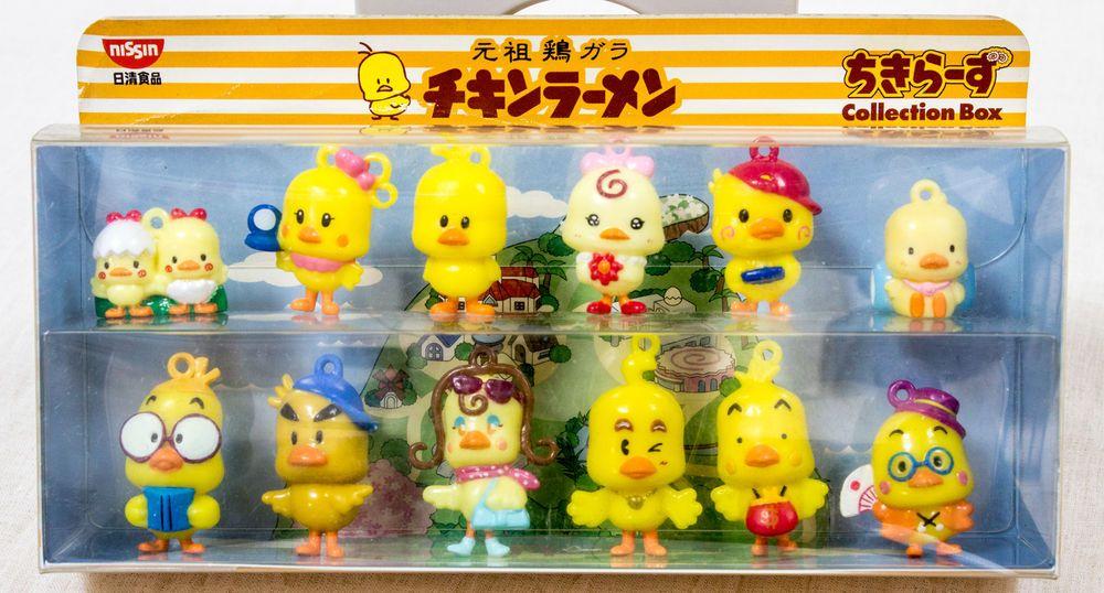 Chikira-zu Chicken Ramen Mini Mascot Figure Collection Box Set Nisshin JAPAN