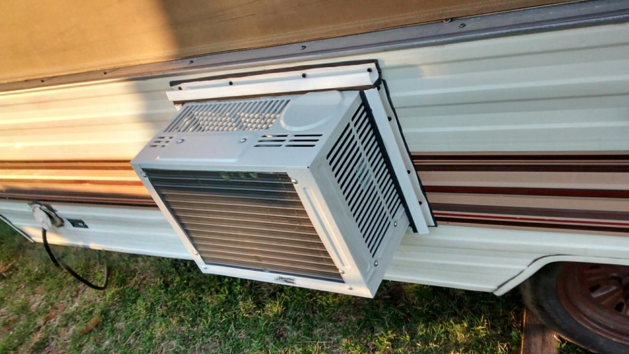 Our Camper Remodel With Images Air Conditioning Installation