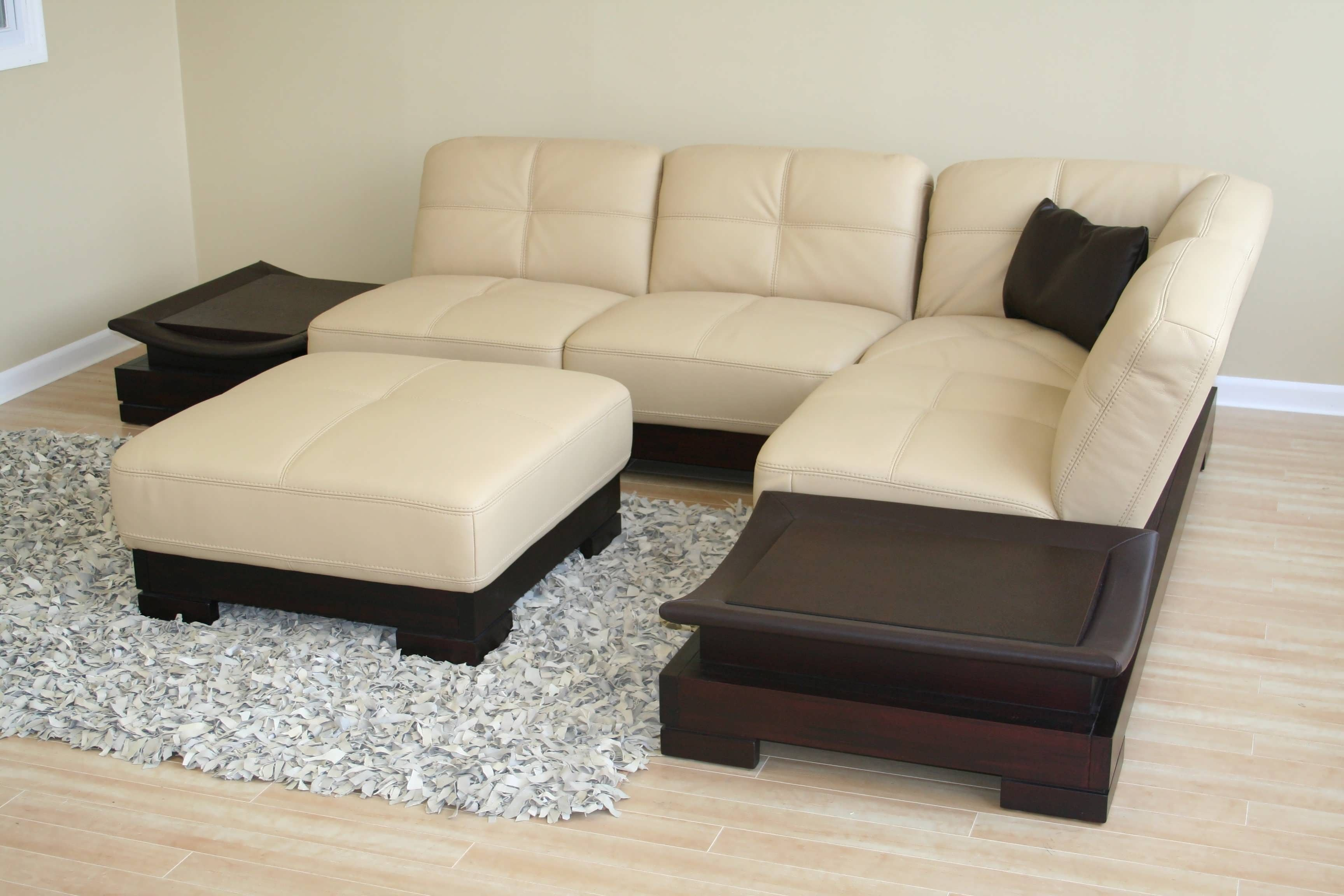 Sofa : Grey Sectional Couch Grey Leather Sectional Double Chaise ...