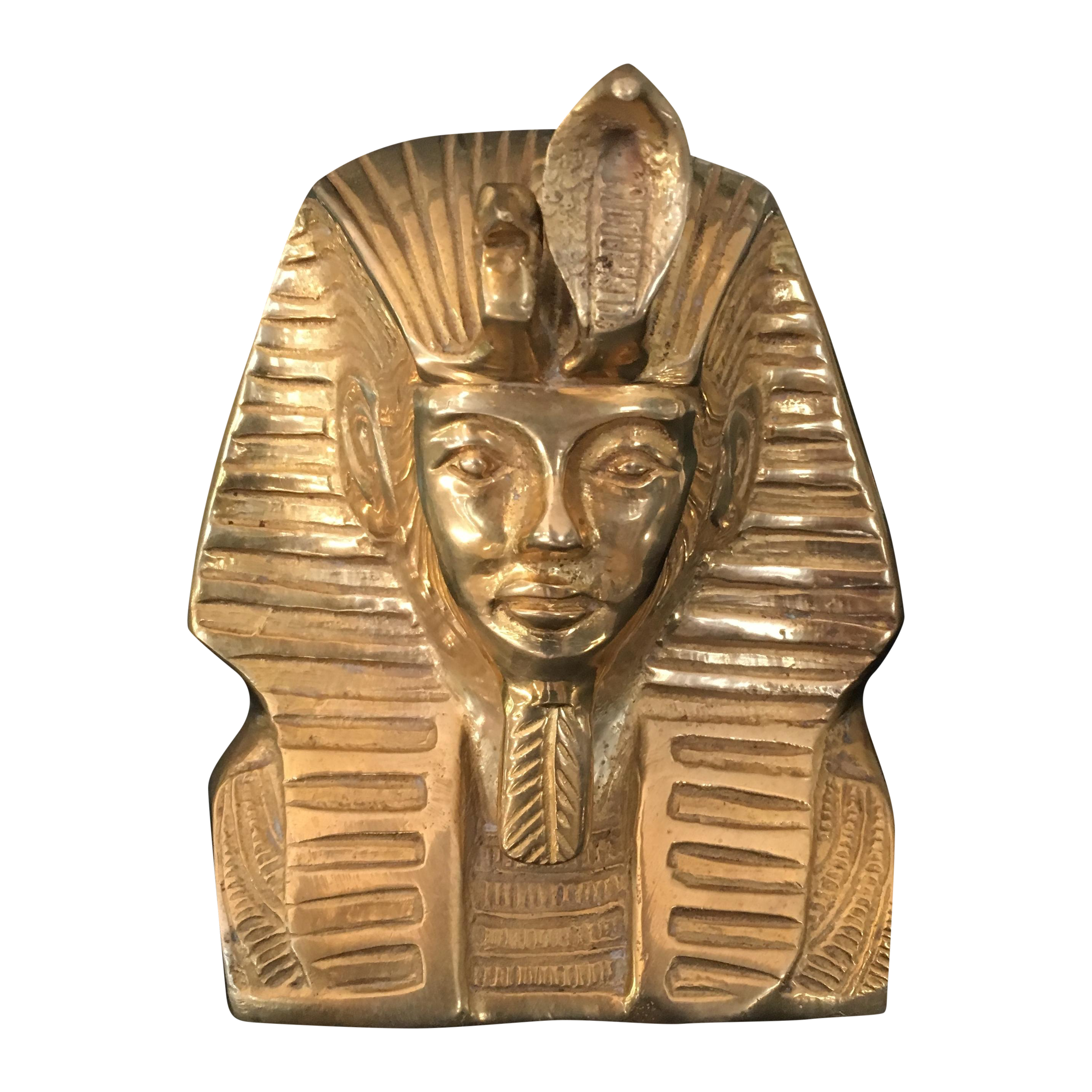 Vintage Solid Brass Egyptian Bust Of King Tut On Chairish Com Models And Figurines King Tut Egyptian