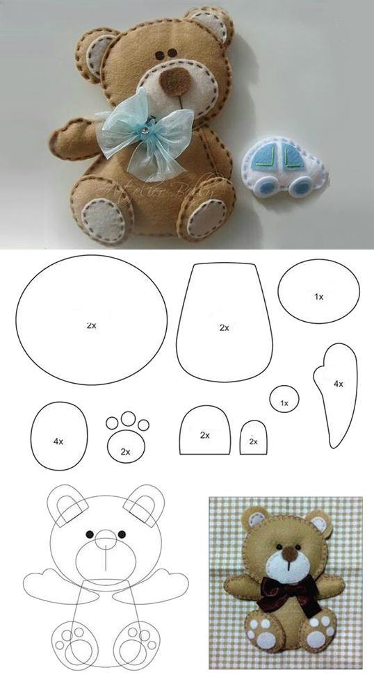 Мягкая игрушка | Osos | Pinterest | Fieltro, Fieltro manualidades y ...