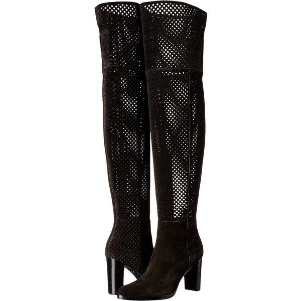 Diane von Furstenberg Jolet (Black Sport Suede) Women's Shoes ($270) ❤ liked