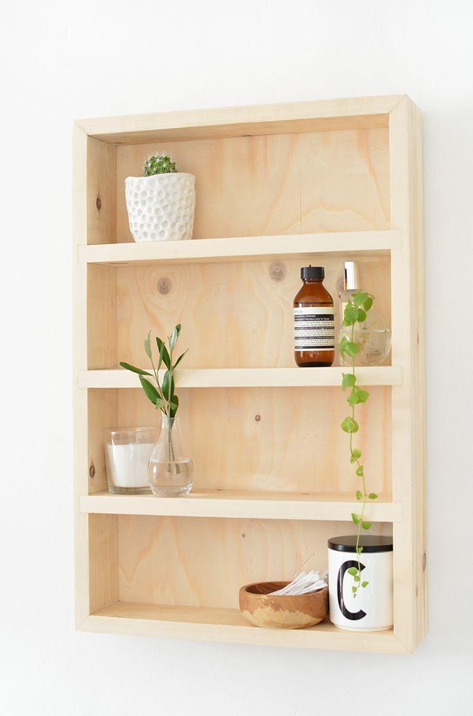 Photo of DIY bathroom storage shelf