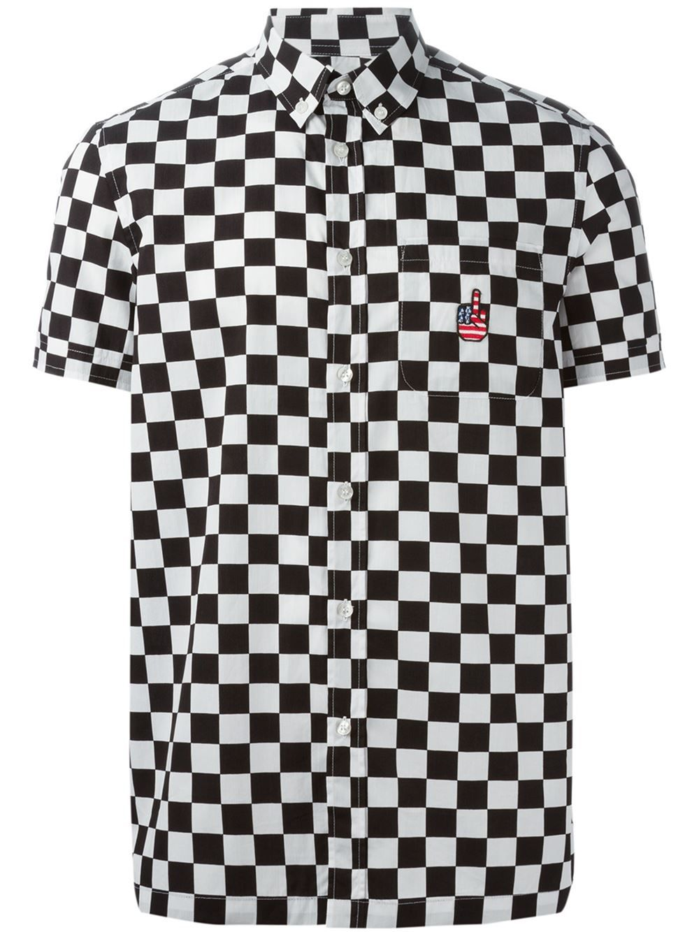 Love Moschino Check Button Down Shirt - Twist'n'scout - Farfetch.com