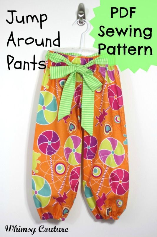 Jump Around Pants PDF Sewing Pattern Boys/Girls nb - age 10