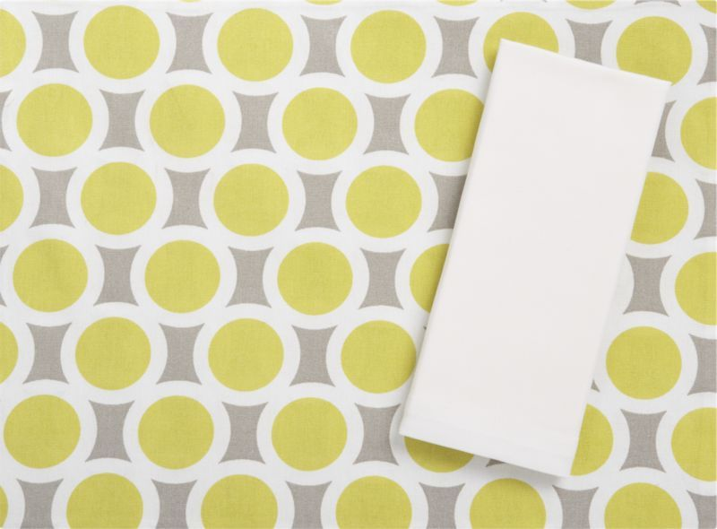 Grier Placemat and Classic White Napkin in Placemats | Crate and Barrel