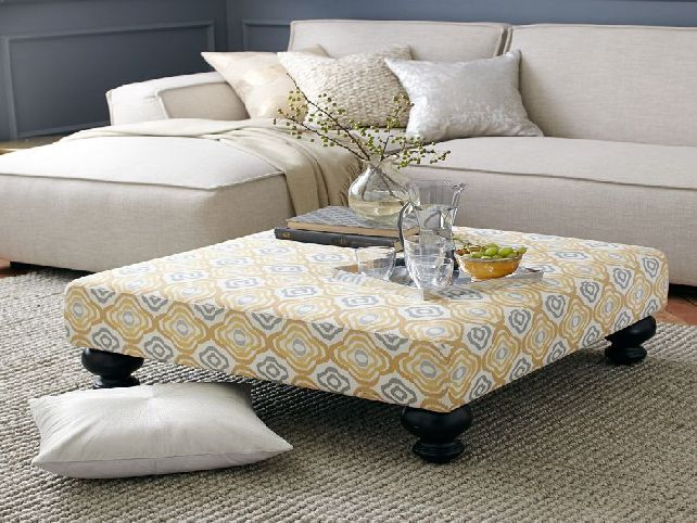 Upholstered Round Coffee Table. Upholstered Round Coffee Table Diy Ottoman  ...