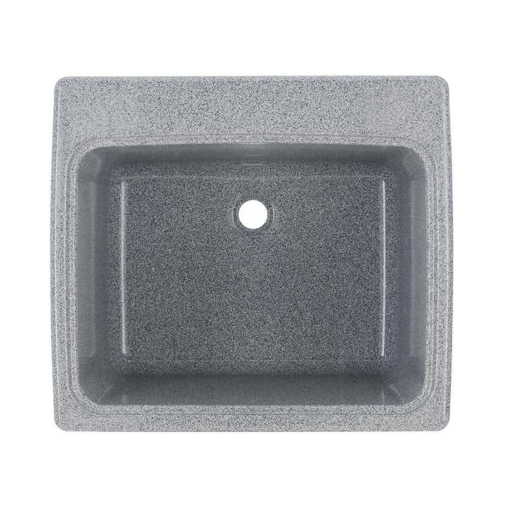 Swan 25 In X 22 In X 13 6 In Solid Surface Undermount Utility